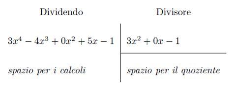 test ammissione lettere divisione polinomi test ammissione universit 224