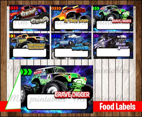 printable monster jam birthday cards 80 off sale monster jam food tent cards instant download