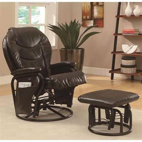 reclining glider rocker ottoman set recliners with ottomans casual styled reclining glider