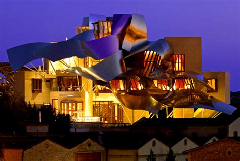 Home Spa Design Inspiration by Frank Gehry S Marques De Riscal Hotel Architecture