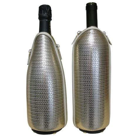 Printed Thermal Bottle two woven eco leather thermal bottle holders freezerino l