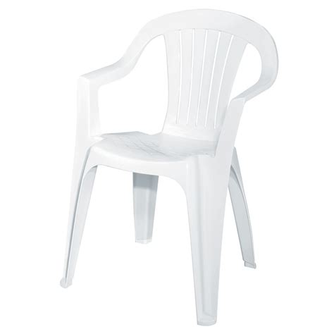 Furniture: White Resin Garden Chairs Stackable Pool Lounge