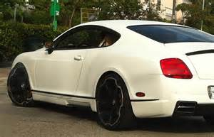 white bentley continental gt with black rims cars