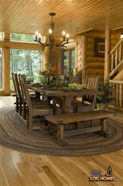log cabin dining room lakehouse 335al rustic dining room other by golden