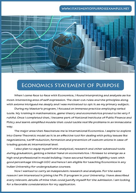Masters Of Economics Or Mba by How To Write Statement Of Purpose Sle Economics