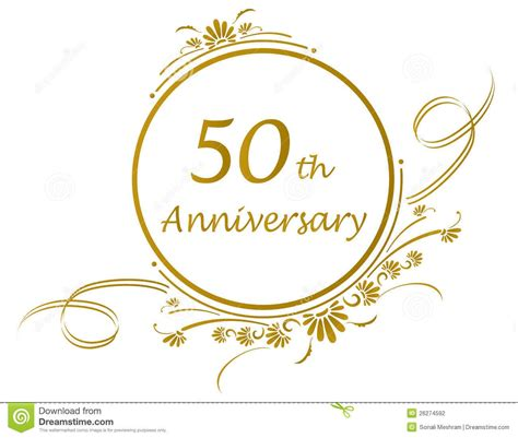Wedding Anniversary Cards Design Vector by 50 Anniversary 50th Anniversary Design