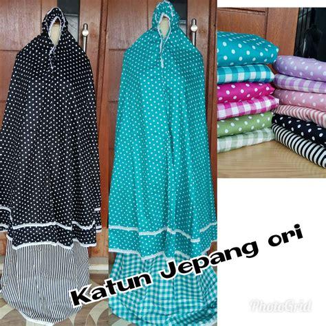 mukena katun jepang ori motif polkadot grosir baju anak branded baju anak muslim baju kaos