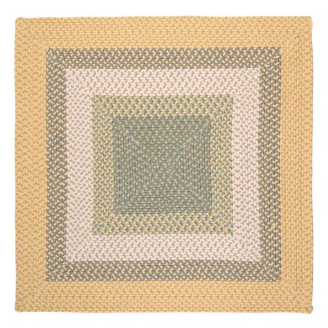 Square Indoor Outdoor Rug Shop Colonial Mills Montego Sundance Square Indoor Outdoor Braided Area Rug Common 4 X 4