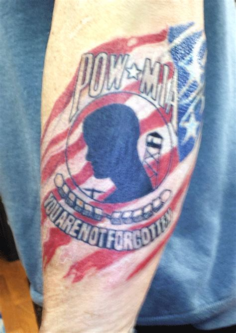 pow tattoo jersey pow you are not forgotten