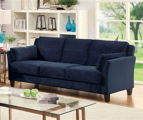 ysabel navy blue sofa andrew s furniture and mattress