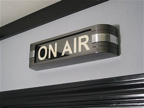 on air sign light recording broadcast studio on air sign light