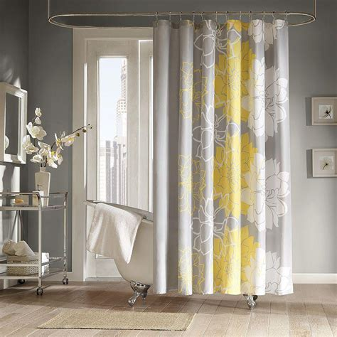 fabric shower curtains kohls counterpoint fabric shower curtain grey from kohl s