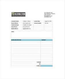 Invoice Template Self Employed Self Employed Invoice Template 8 Free Word Excel Pdf