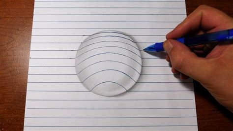 How To Make 3d Sketch On Paper - how to draw 3d easy line paper trick