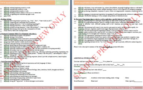 preschool speech language evaluation report template in you missed it the importance of targeted