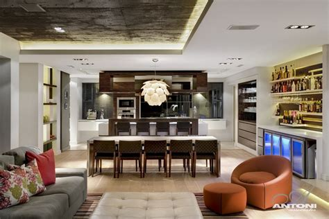 living room south open plan kitchen dining luxurious interior pearl valley golf estate south africa