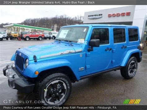 Hydro Blue Jeep Wrangler Unlimited Hydro Blue Pearl 2014 Jeep Wrangler Unlimited 4x4