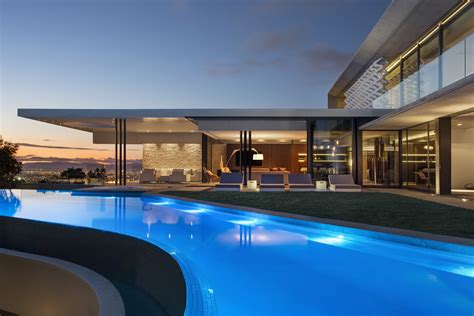 concrete  glass house modern city villa  arrcc