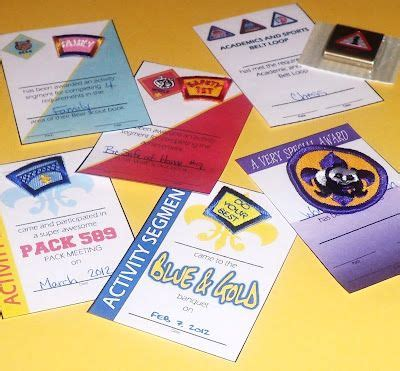 cub scout advancement card templates 24 best images about cub scout awards on blue