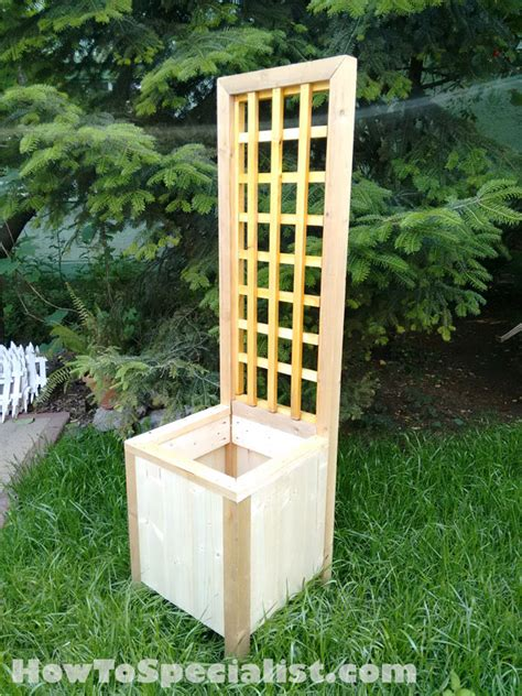 planters with trellis how to build a planter with trellis howtospecialist