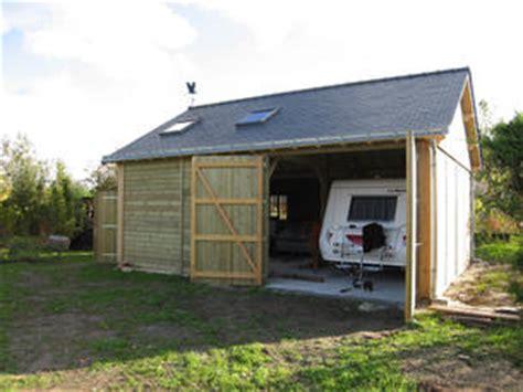 hangar pour caravane abri cing car constructions bois abri la romagne