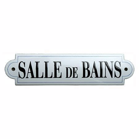 french bathroom sign bathroom french enamel door sign plaque la salle de bain