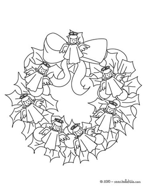 holly wreath coloring page christmas garland coloring pages holly leaves wreath