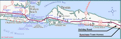 destin florida map tell