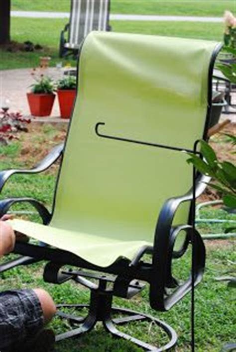 Recovering Patio Chairs Recover Sling Back Chairs We Just Bought 4 Of These For
