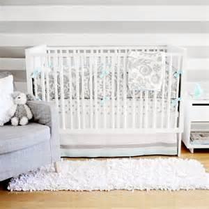 Aqua And Grey Crib Bedding Aqua And Gray Baby Bedding