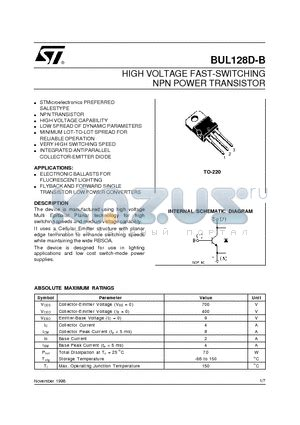 high voltage transistor datasheet bul128 datasheet high voltage fast switching npn power transistor bul128 pdf by