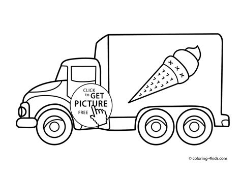 coloring pages transportation vehicles ice cream truck transportation coloring pages for kids