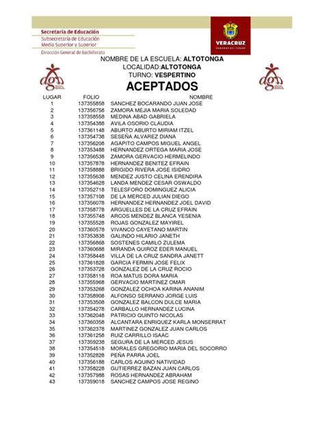 carmen aurelia chacon rueda aceptados preparatorias 2008 edo veracruz
