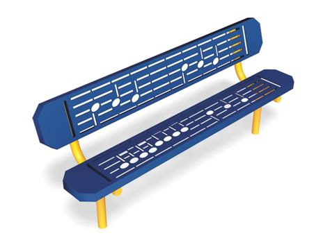 music bench 28005 music bench park benches gt site gametime