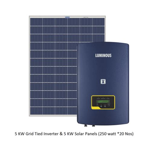 2kw Solar Panel Price With Subsidy solar combo luminous 5 kw solar grid connected inverter