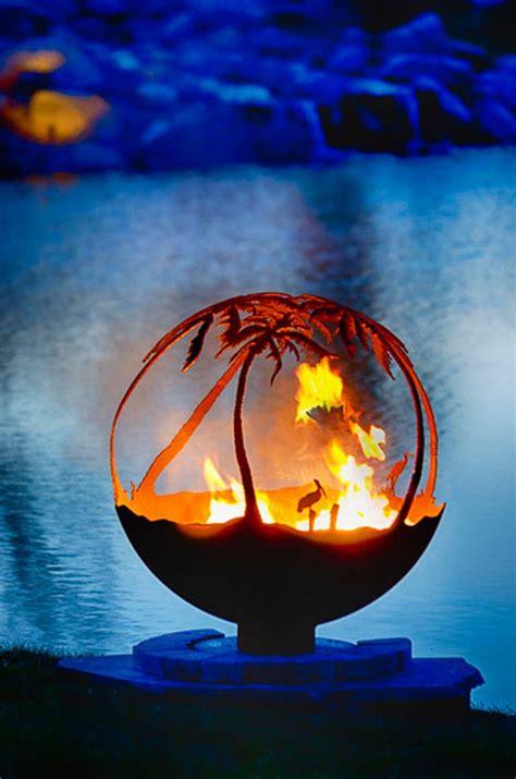 artistic sphere fire pit  owner builder network