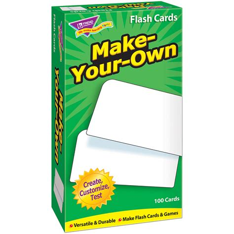 flash card make flash cards make your own 100 box flash cards