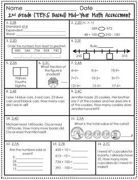 math tests for 2nd grade kidz activities