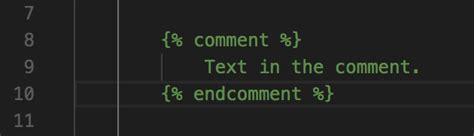 django template comment vs code color coding for comments in django templates