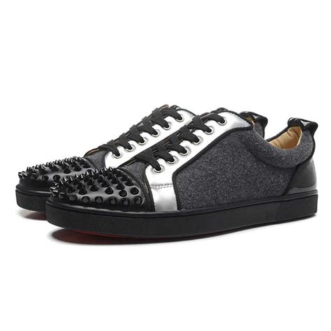 louboutin sports shoes christian louboutin louis junior spike sneakers mens