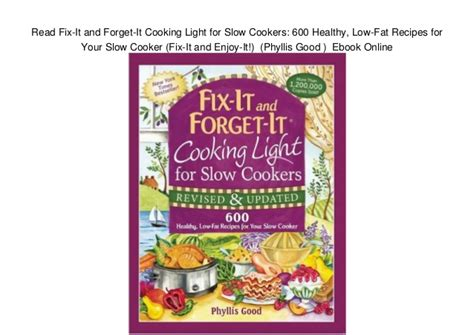 fix it and forget it cooking for two 150 small batch cooker recipes books read fix it and forget it cooking light for cookers