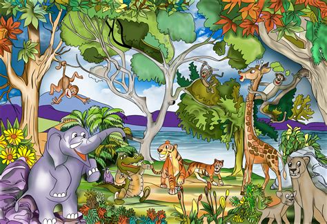 Jungle Bedroom Wallpaper Murals Buy Childrens Jungle Murals For 163 35 00 Per Sq M2