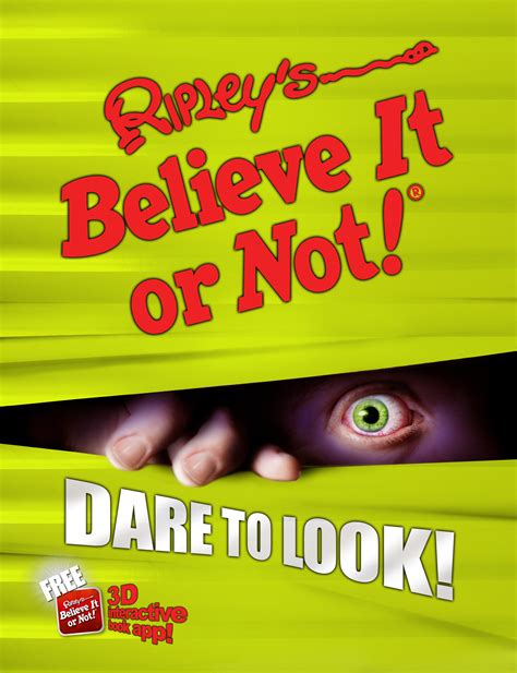 to believe books ripley s believe it or not to look book by ripley
