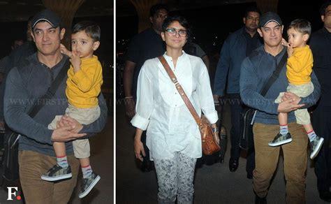 amir khan children photos spotted aamir kiran rao with son azad leaving for japan