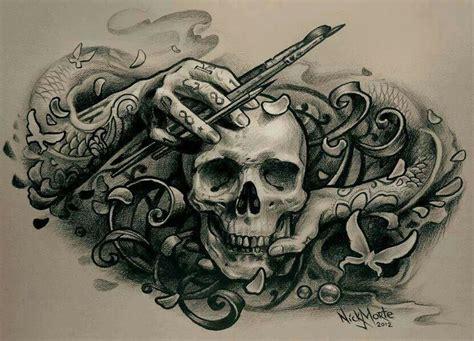 tatuaje tattoo calavera dibujo skull pinterest