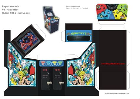 Paper Craft Machine - gauntlet arcade machine papercraft culture
