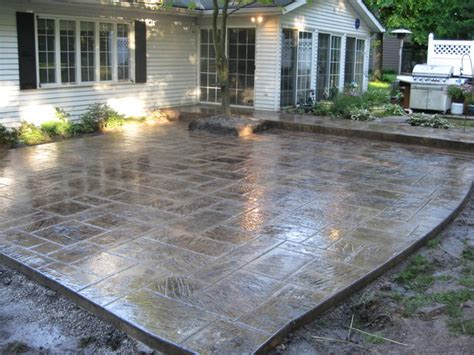 concrete backyard design concrete patio designs landscaping gardening ideas