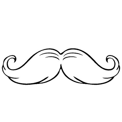Free Coloring Pages Of Moustaches Mustache Coloring Page