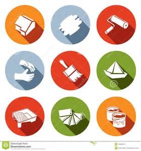 Painting Work painting work icon set stock illustration image 44660914