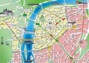 map of center prague central hostels the map of prague center